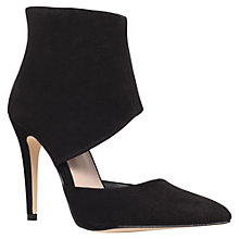 Buy KG by Kurt Geiger Hart Suedette Court Shoes, Black Online at johnlewis.com