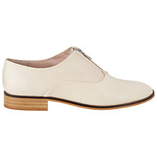 Buy NW3 by Hobbs Frankie Derby Leather Shoes, Cream Online at johnlewis.com