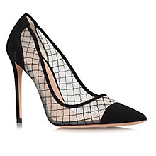 Buy Kurt Geiger Sharkie Leather Stiletto Court Shoes, Black Online at johnlewis.com