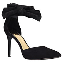 Buy KG by Kurt Geiger Suede Bow Detail Court Shoes, Black Online at johnlewis.com