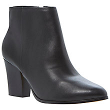 Buy Dune Nita Leather Heeled Ankle Boots, Black Online at johnlewis.com