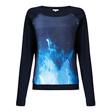 Buy Jigsaw Lightening Storm Jumper, Navy Online at johnlewis.com