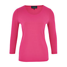 Buy Viyella 3/4 Sleeve Top, Bubblegum Online at johnlewis.com