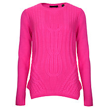 Buy Ted Baker Cable Engineered Sweater, Mid Pink Online at johnlewis.com