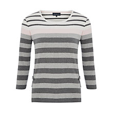Buy Viyella Petite Vertical Pocket Top, Grey Marl Online at johnlewis.com