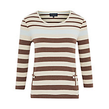 Buy Viyella Petite Vertical Pocket Top, Cognac Online at johnlewis.com