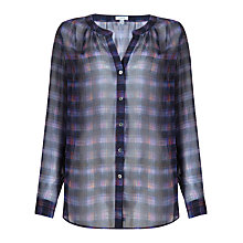 Buy Jigsaw Jewel Check Shirt, Multi Online at johnlewis.com