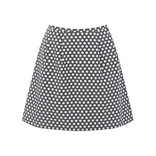 Buy Oasis Spot Detail Jacquard Full Skirt, Blue/Multi Online at johnlewis.com