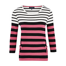 Buy Viyella Petite Vertical Pocket Top, Bubblegum Online at johnlewis.com