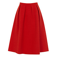 Buy Oasis Oriental Jacquard Skirt, Bright Orange Online at johnlewis.com