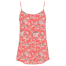 Buy Oasis Trailing Oriental Print Cami, Orange/Multi Online at johnlewis.com