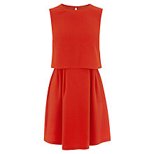 Buy Oasis 2 in 1 Crepe Dress, Mid Orange Online at johnlewis.com