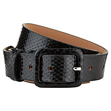 Buy Hobbs Dulwich Belt, Black Online at johnlewis.com