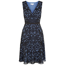 Buy Hobbs Luisa Dress, Delphinium/Black Online at johnlewis.com