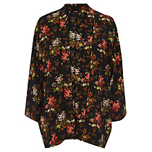 Buy Oasis Primrose Floral Kimono, Multi Black Online at johnlewis.com