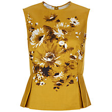 Buy Hobbs Summer Bouquet Top, Golden Yellow Online at johnlewis.com