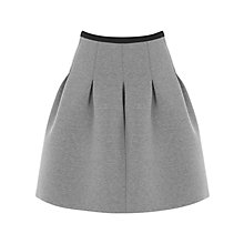 Buy Warehouse Pleated Contrast Skirt, Light Grey Online at johnlewis.com