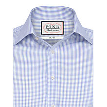 Buy Thomas Pink Aldungton Check Shirt, White/Sky Online at johnlewis.com