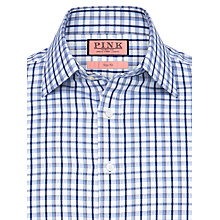 Buy Thomas Pink Eagle Check Long Sleeve Shirt, White/Navy Online at johnlewis.com