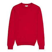 Buy Reiss Onyx Merino Wool Jumper, Bright Red Online at johnlewis.com
