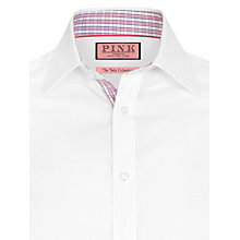 Buy Thomas Pink Lauda Plain Shirt, White Online at johnlewis.com