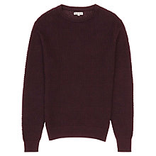 Buy Reiss Aviator Honeycomb Weave Jumper, Wine Berry Online at johnlewis.com