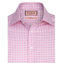 Buy Thomas Pink Kilmoray Gingham Check Shirt, Pink/White Online at johnlewis.com