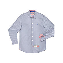Buy Thomas Pink Fradelle Stripe Shirt, Navy/Yellow Online at johnlewis.com