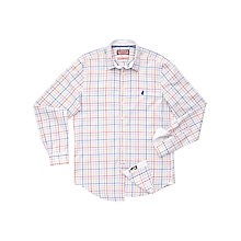 Buy Thomas Pink Camden Checked Shirt, White / Multi Online at johnlewis.com