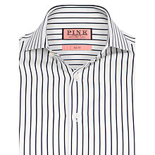 Buy Thomas Pink Sydenham Stripe Shirt, White/Navy Online at johnlewis.com