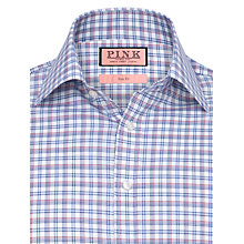 Buy Thomas Pink Eagle Check Long Sleeve Shirt, White/Red Online at johnlewis.com