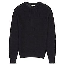 Buy Reiss Aviator Honeycomb Weave Jumper, Navy Online at johnlewis.com