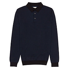 Buy Reiss Morrison Stitch Detail Polo Shirt, Black Online at johnlewis.com