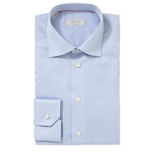 Buy Eton Solid Twill Contemporary Fit Shirt, Blue Online at johnlewis.com