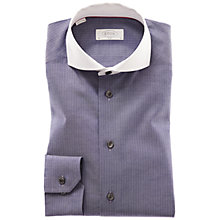 Buy Eton Contrast Collar Oxford Shirt, Navy Online at johnlewis.com