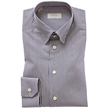 Buy Eton Stripe Oxford Shirt, Navy/White Online at johnlewis.com