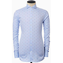 Buy Eton Micro Square Oxford Slim Fit Shirt, Blue Online at johnlewis.com