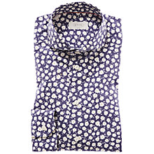 Buy Eton Slim Fit Daisy Print Poplin Shirt, Navy/White Online at johnlewis.com