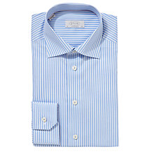 Buy Eton Bold Stripe Contemporary Fit Shirt, Blue Online at johnlewis.com