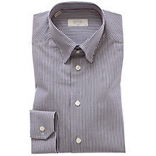 Buy Eton Stripe Slim Fit Shirt, Navy/White Online at johnlewis.com