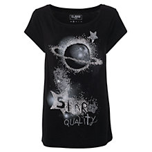 Buy French Connection Star Quality T-Shirt, Black Online at johnlewis.com