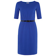 Buy Precis Petite Pintuck Detail Shift Dress, Cobalt Online at johnlewis.com