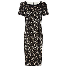 Buy Planet Lace Shift Dress, Black/Champagne Online at johnlewis.com