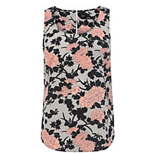 Buy Oasis Shadow Floral Vest, Powder Pink Online at johnlewis.com