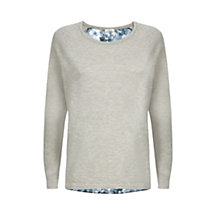 Buy Kaliko Blurred Floral Back Jumper, Grey/Multi Online at johnlewis.com
