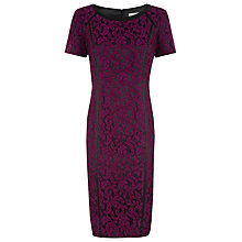 Buy Planet High Waist Lace Dress, Black/Wine Online at johnlewis.com