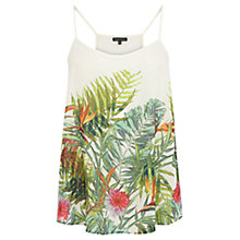 Buy Warehouse Tropical Palm Print Cami, Multi Online at johnlewis.com