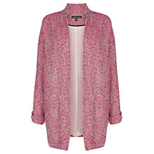 Buy Warehouse Boucle Coatigan, Pink Online at johnlewis.com