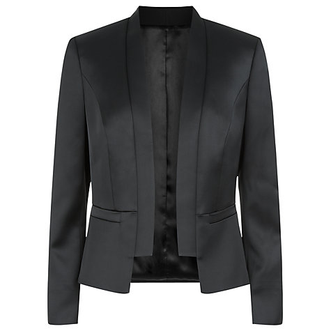 Buy Planet Satin Jacket, Black Online at johnlewis.com
