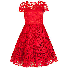Buy Ted Baker Sheer Floral Overlay Dress, Red Online at johnlewis.com